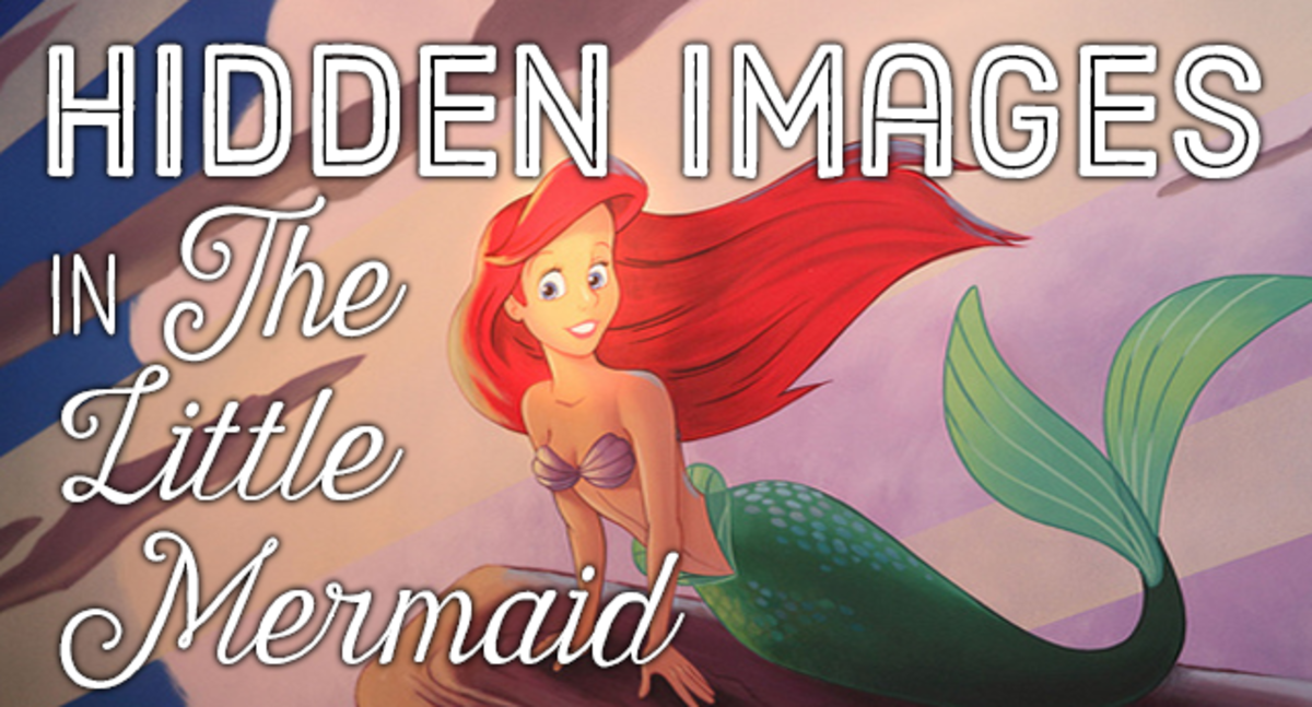 "Easter eggs and hidden images in ""The Little Mermaid."""