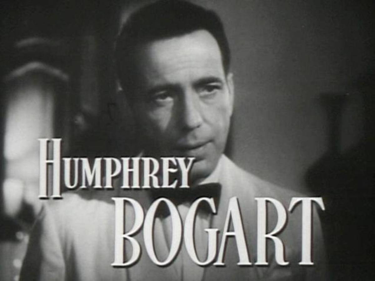 Humphrey Bogart in a screenshot from the Casablanca movie trailer