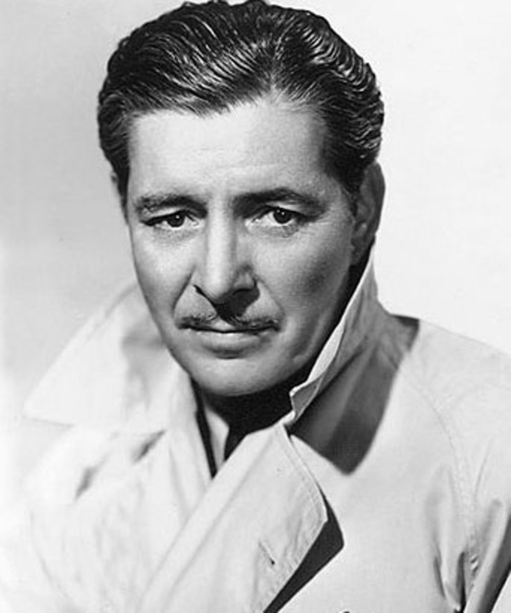 Ronald Colman in a studio portrait
