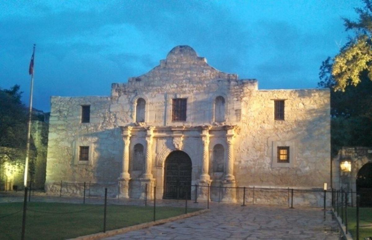 The Alamo at twilight