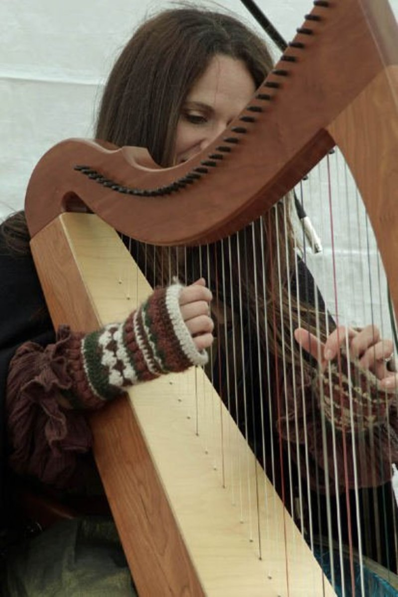 Arpeggio comes from the Italian word Arpeggiare, meaning to play like a harp - or one note after the other (broken chords)