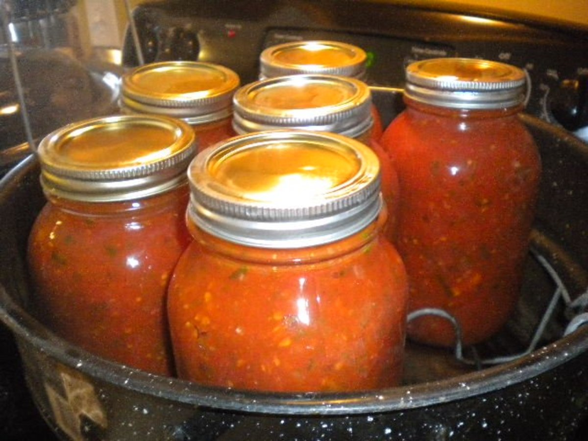 Put jars in water and heat to boiling.  Boil for 30 minutes.
