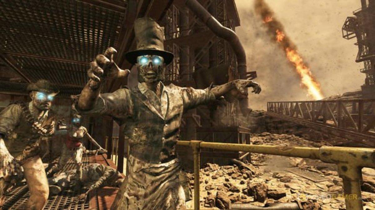 """Black Ops 2 - Zombies"" on Buried.  Come see the old west and fight the risen dead!"