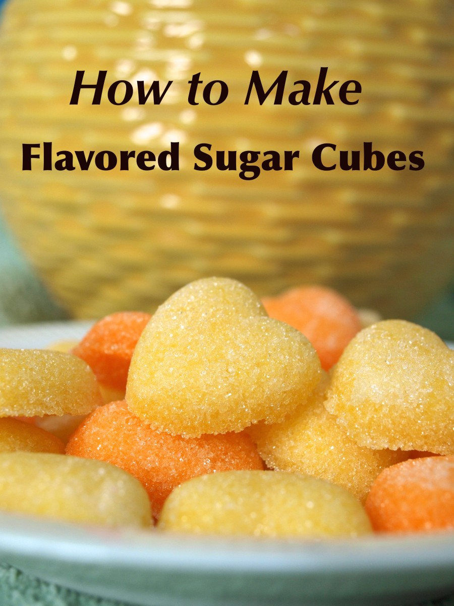 Lemon and Orange Flavored Sugar Cubes