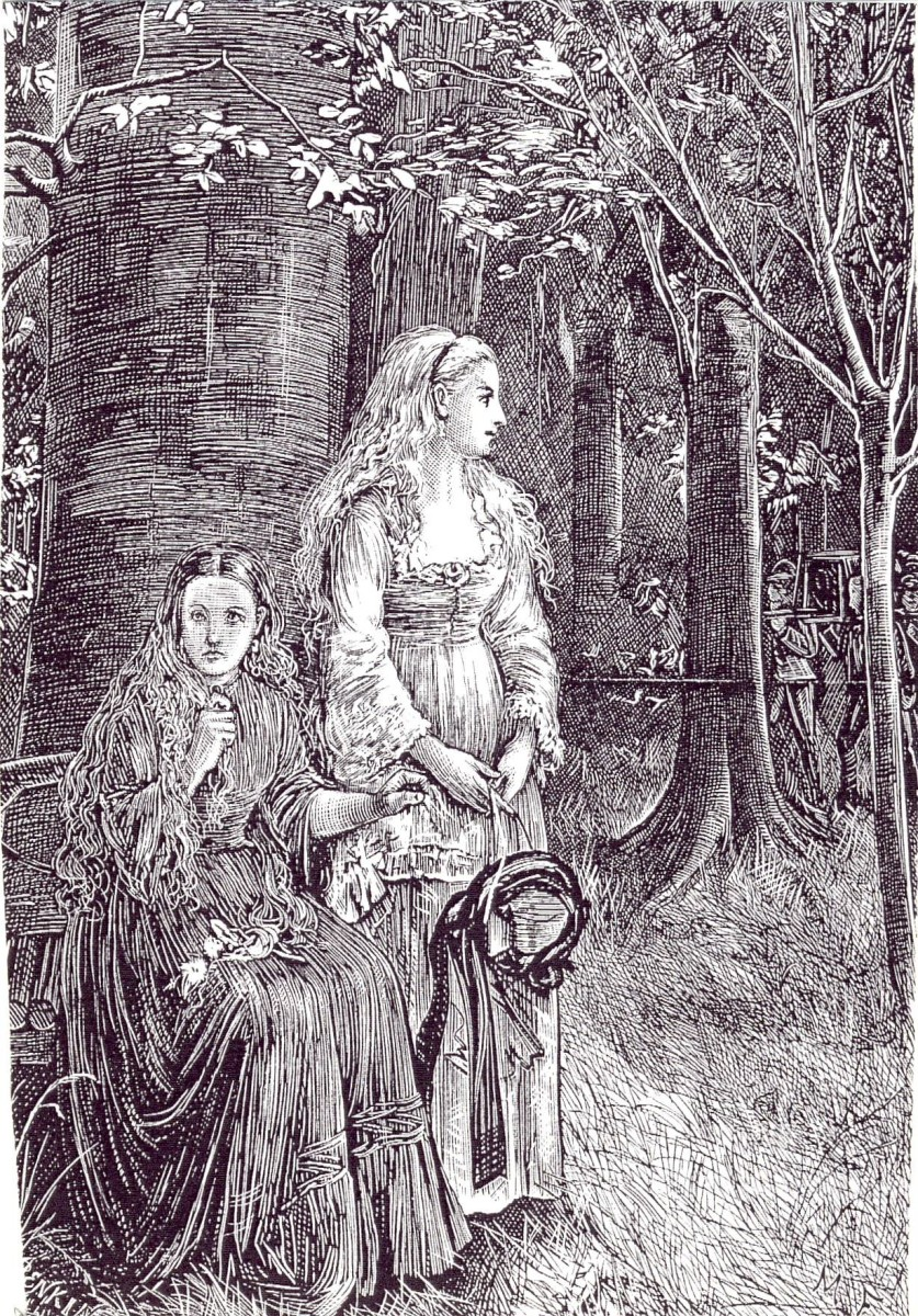 Illustration by Michael Fitzgerald of Carmilla and Laura - from the original publication of the novella.