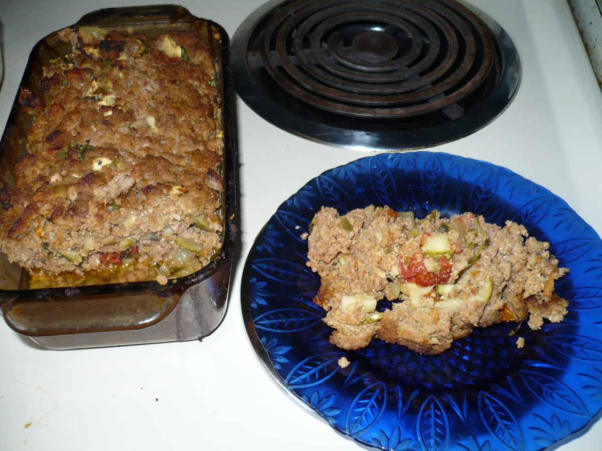 Zucchini-Stuffed Meatloaf