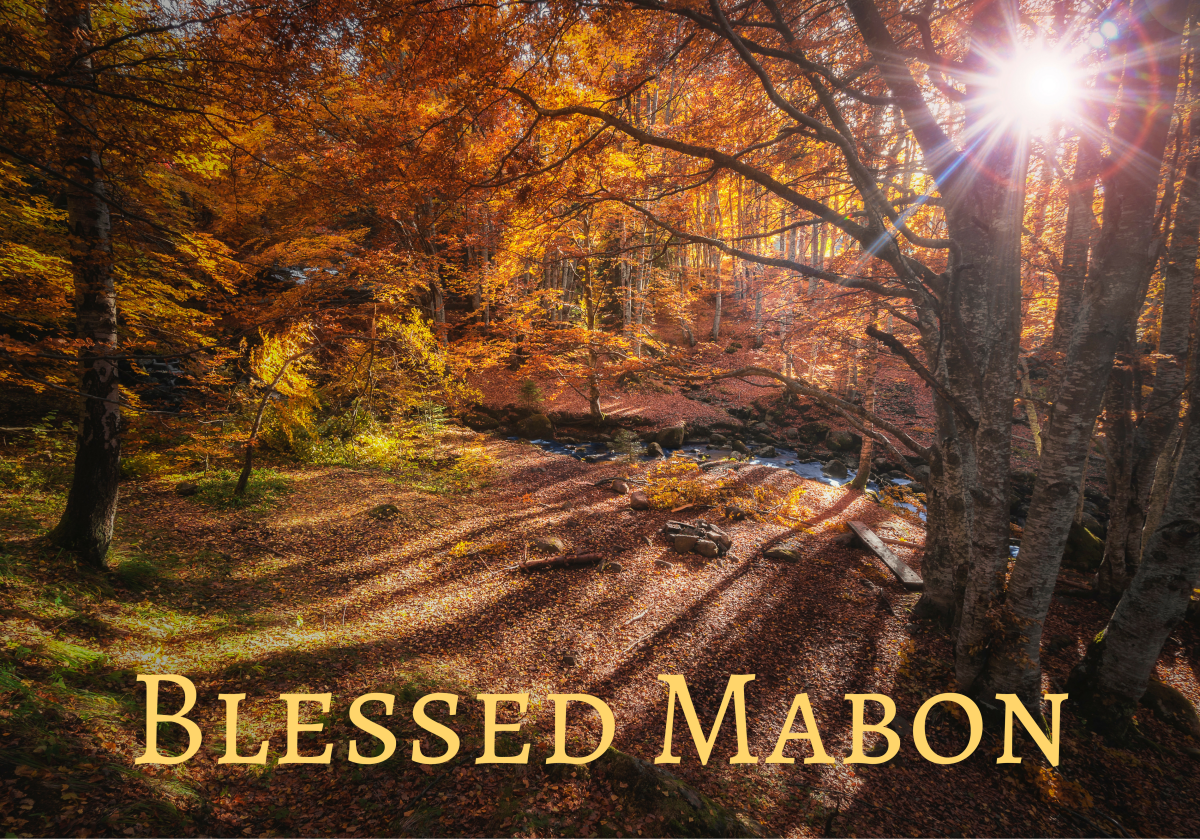 A Mabon ritual doesn't need to be complicated or expensive.