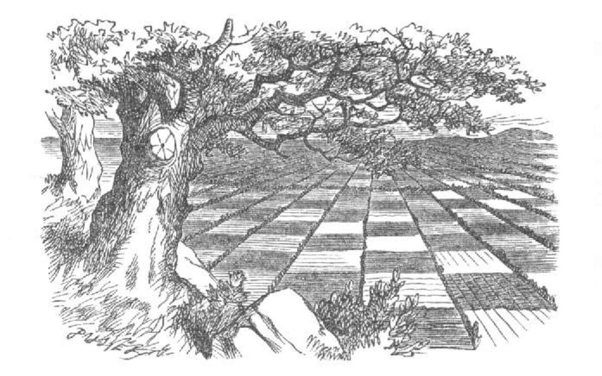 John Tenniel's illustration of Looking-Glass Land