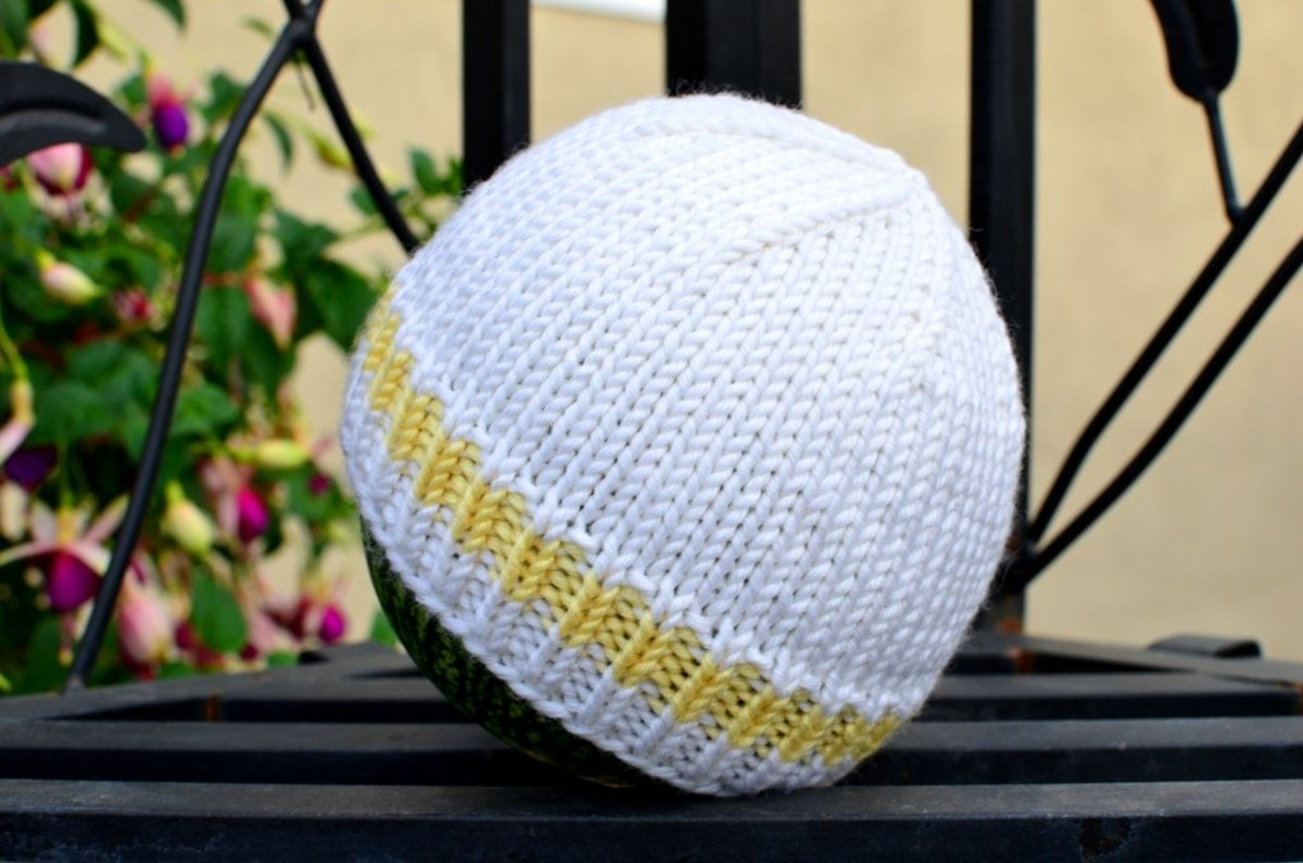 Easy and Basic Baby Hat! Free Knitting Pattern with How to ...