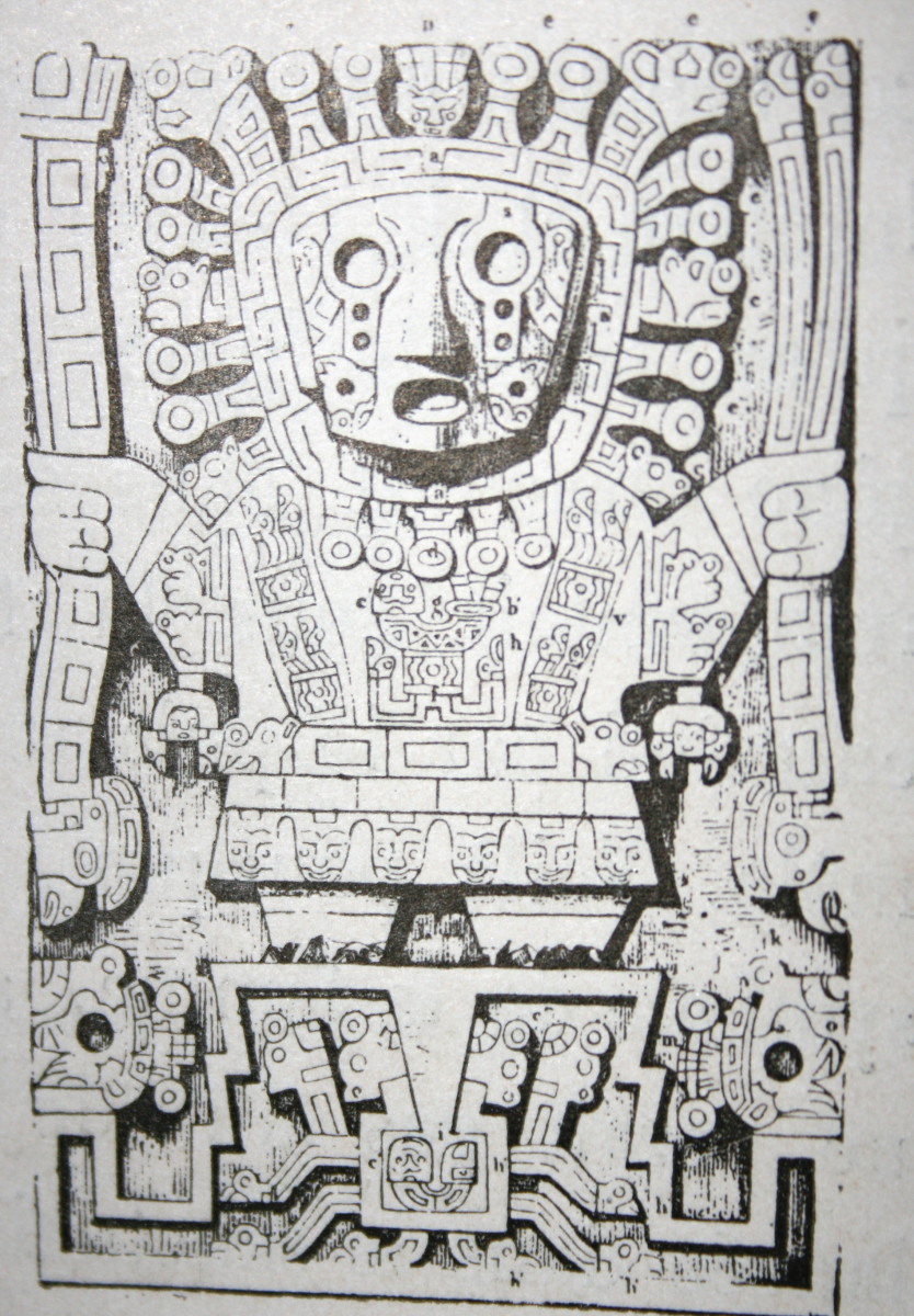 Illustration: Viracocha, the primary Incan deity