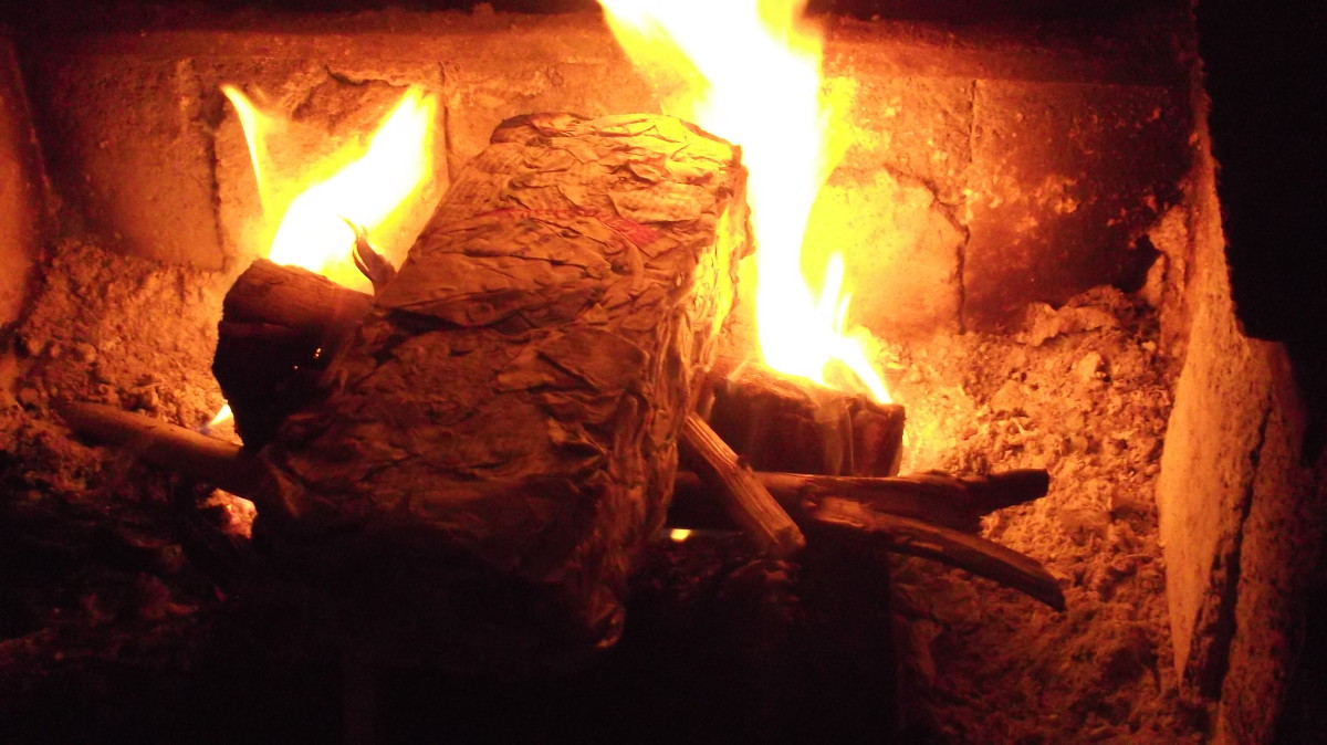 how to make paper logs without water
