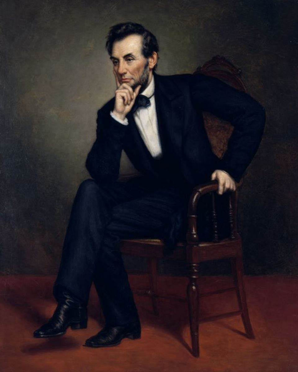 Abraham Lincoln as painted by George Peter Alexander Healy in 1887