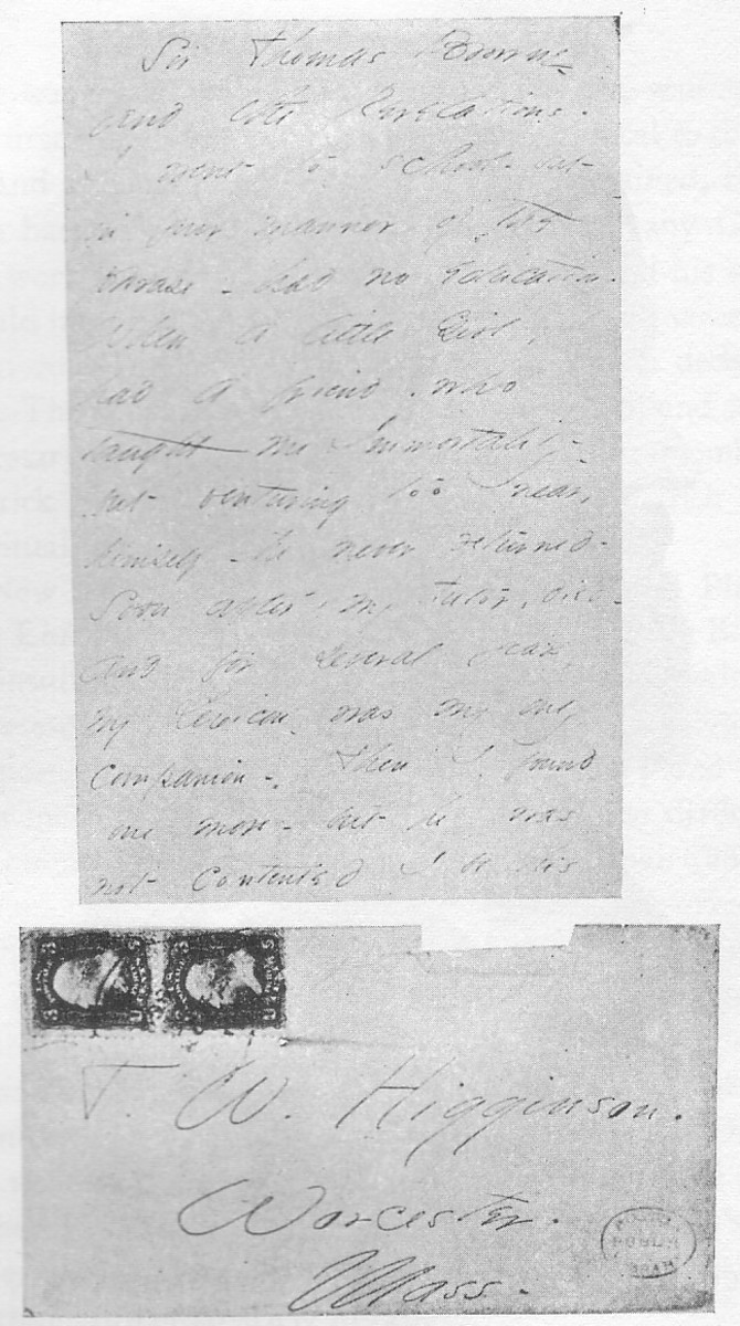 Emily Dickinson's second letter to Thomas Wentworth Higginson