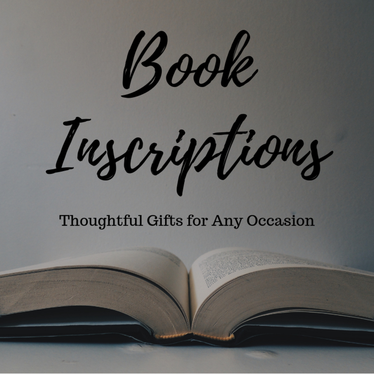 Book inscriptions are a great way to add a personal message to a useful gift.