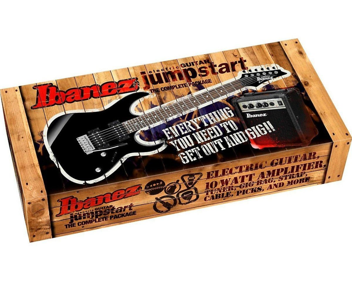 Guitar starter kits from quality brands like Ibanez give you everything you need to start playing, all in one package.