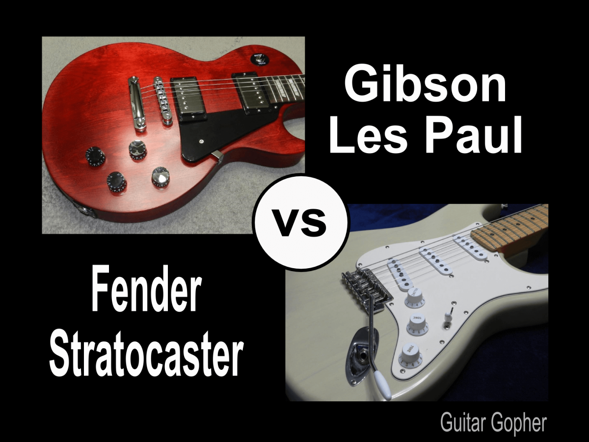 Gibson Les Paul vs Fender Stratocaster Guitar Review | Spinditty