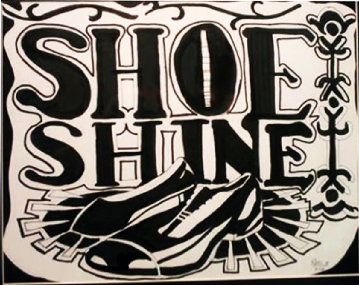 """""""Bea's Boy"""" Polishes Shoe Shine Image"""
