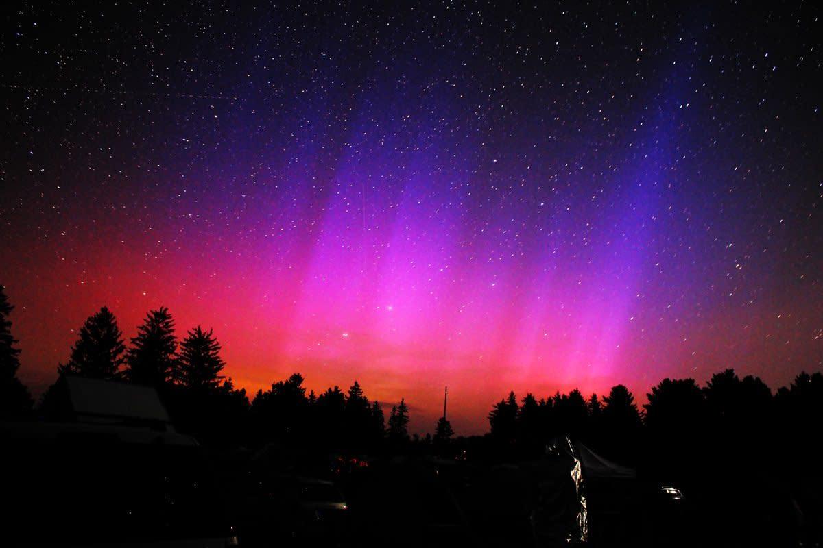 Aurora Borealis at Cherry Springs State Park, Pennsylvania