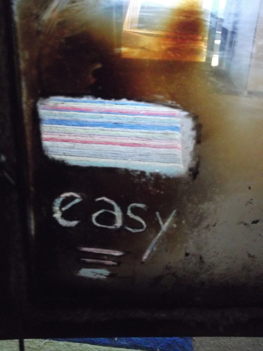 Write messages in your fire door. Draw hearts and smiley faces. :)