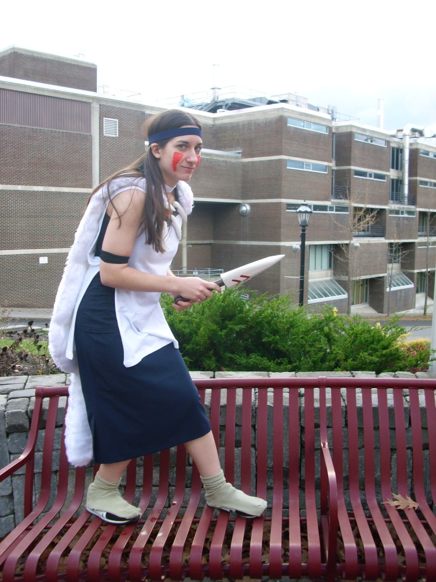 In college, I made my own San costume inspired by Princess Mononoke.