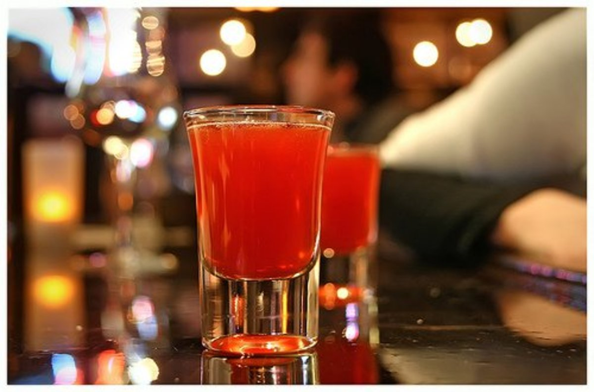 Despite its name, the Red-Headed Slut shot is anything but raunchy. The cranberry juice and peach schnapps add a sweet flavor to mix in well with the Jager. It's a must-know in the world of drink recipes.