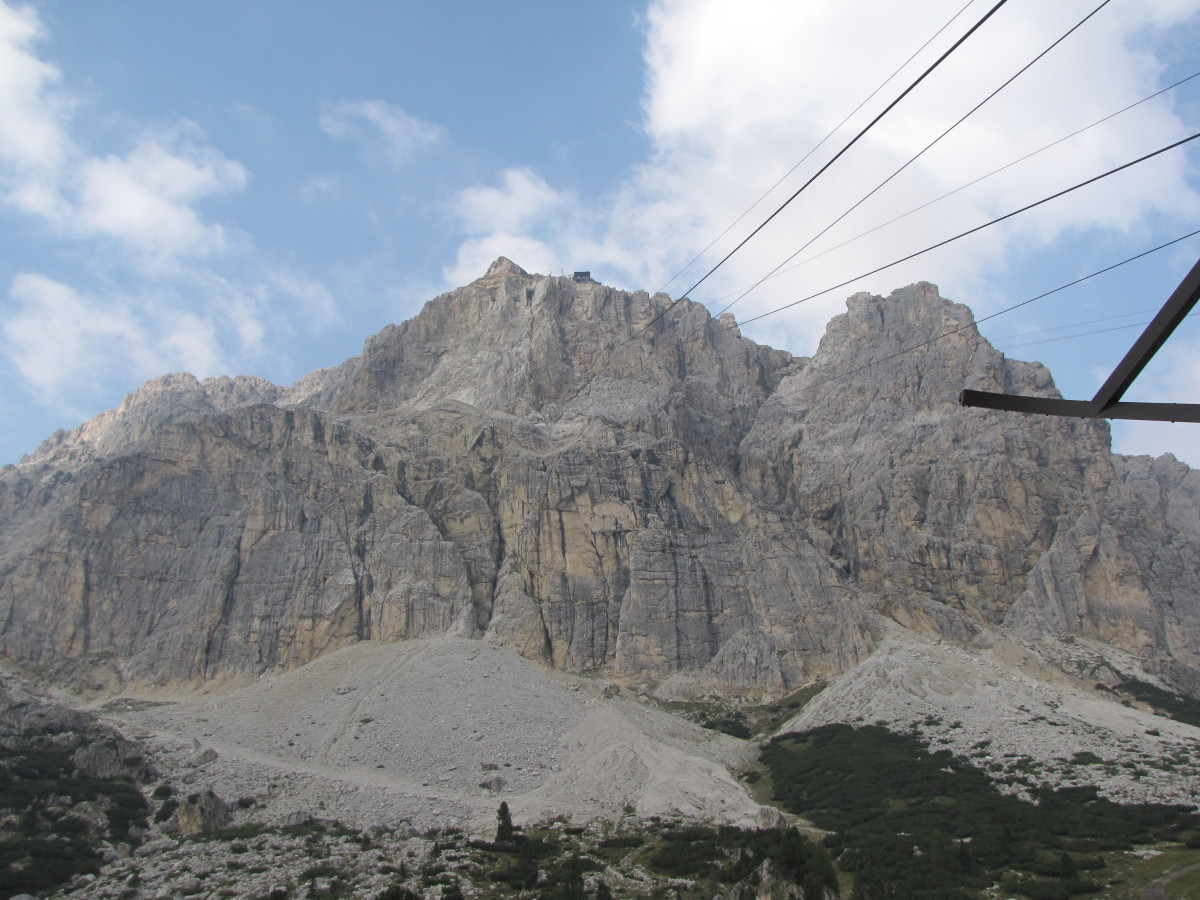 The Lagazuoi Cable Car at Falzarego Pass