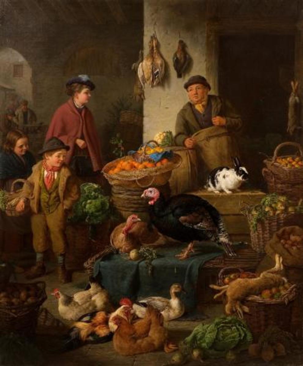 The Market Stall, Henry Charles Bryant, 20th Century