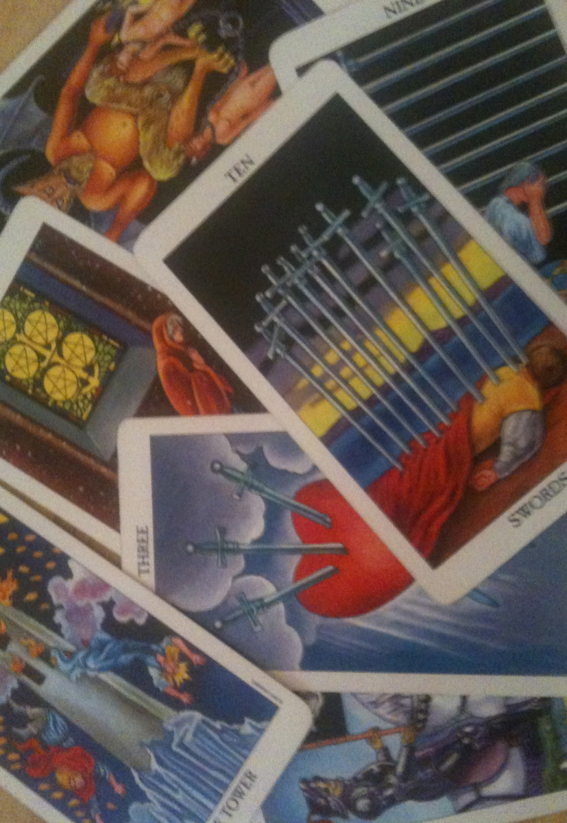 Some images on Tarot cards can be disconcerting