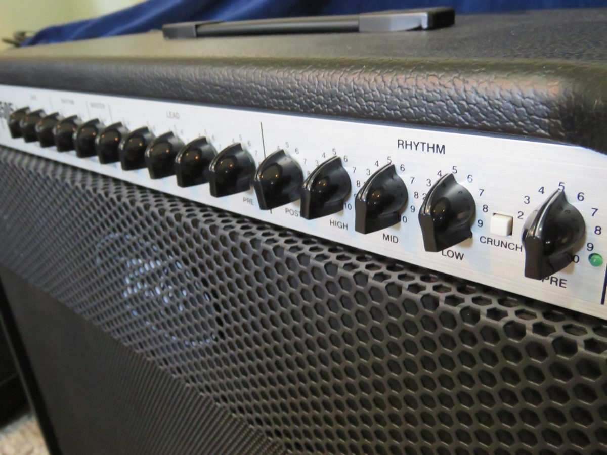 The Peavey 6505+ 112 Combo is a powerful amp known for its brutal high-gain sounds.