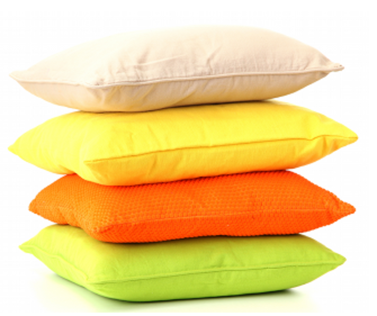 Stack of cushions