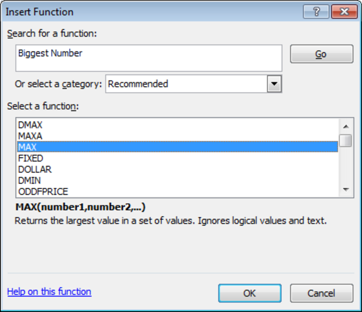 The Function Library in Excel 2007 and Excel 2010 will help you choose exactly the right function for your formula.