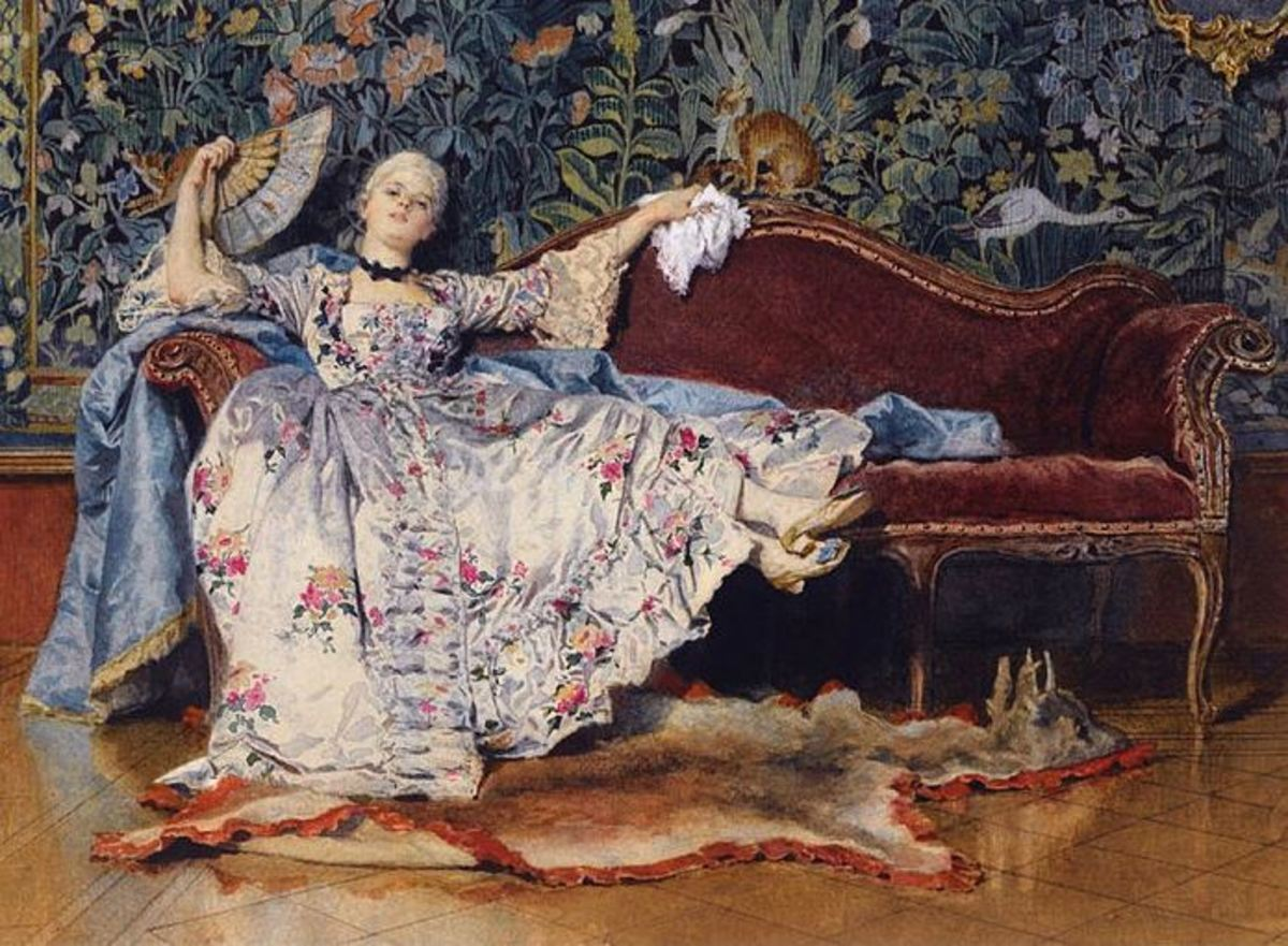 A Reclining Lady with a Fan, by Eleuterio Pagliani, 1876