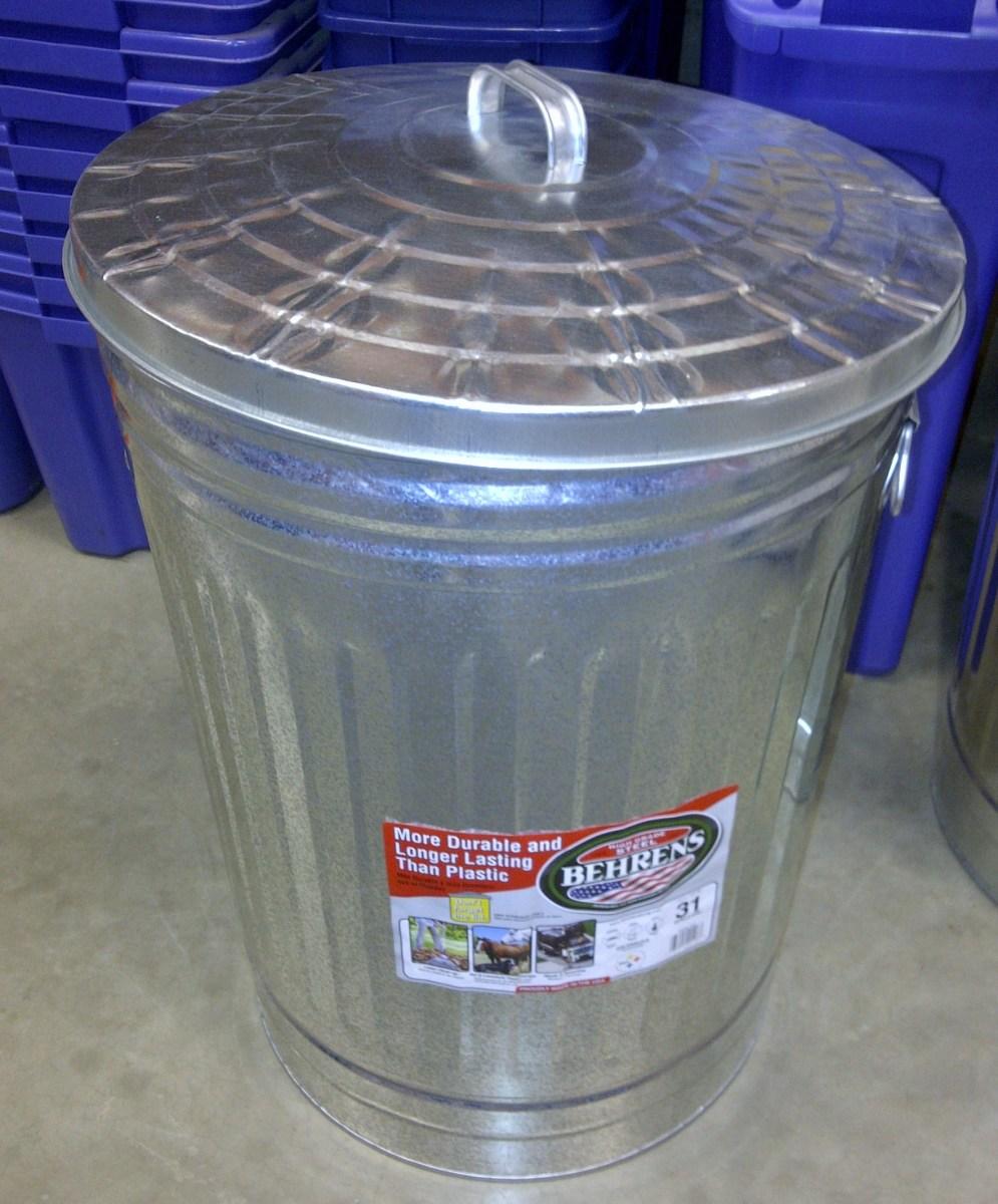 Metal Garbage Can