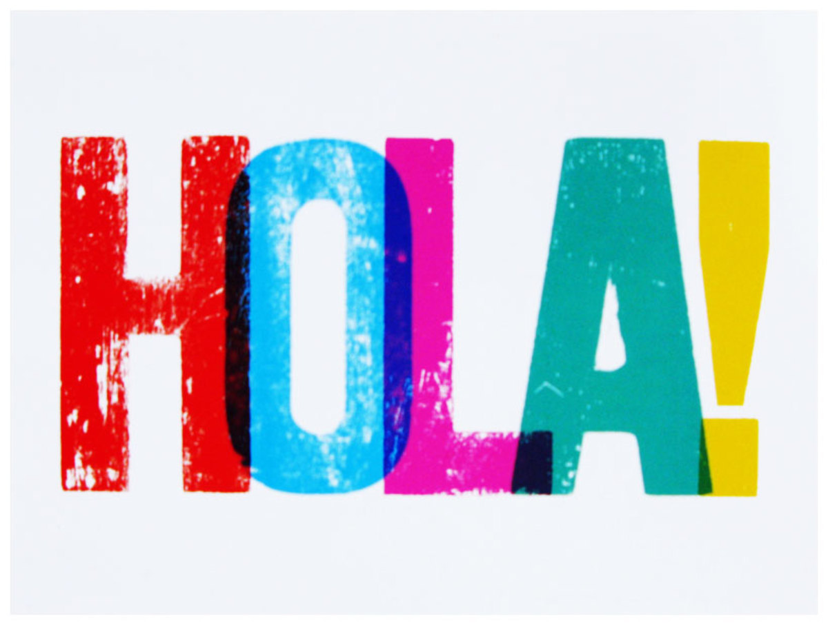 The image above is a decorative picture of the word 'Hola'.