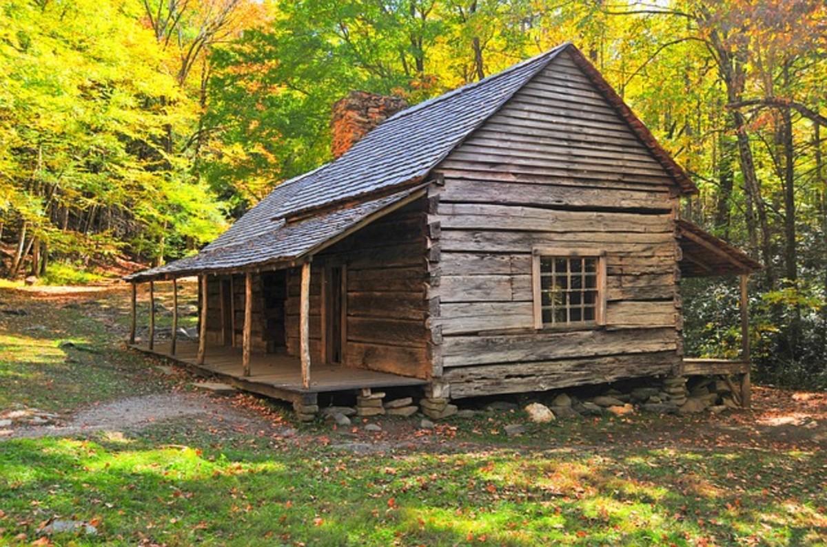Appalachian cabin.