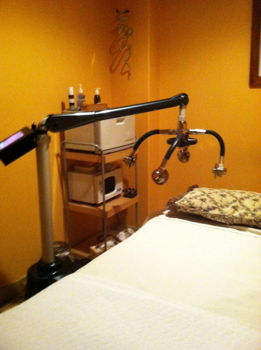 Zerona laser equipment in the med spa treatment room