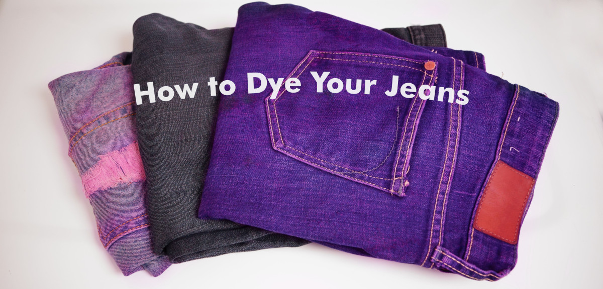Do it yourself: Dye your jeans a new color with one of these techniques.
