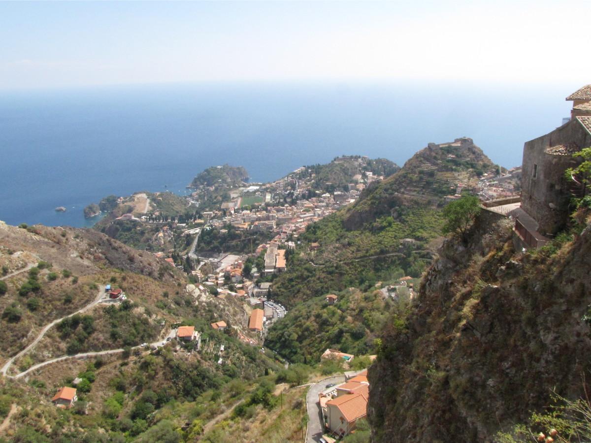 Visiting Castelmola, Sicily