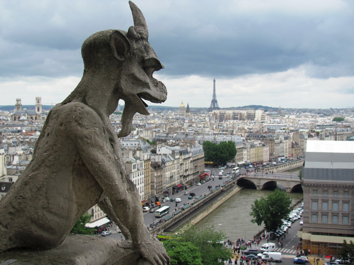 The Gargoyles Of Notre Dame Cathedral In The Heart Of Paris