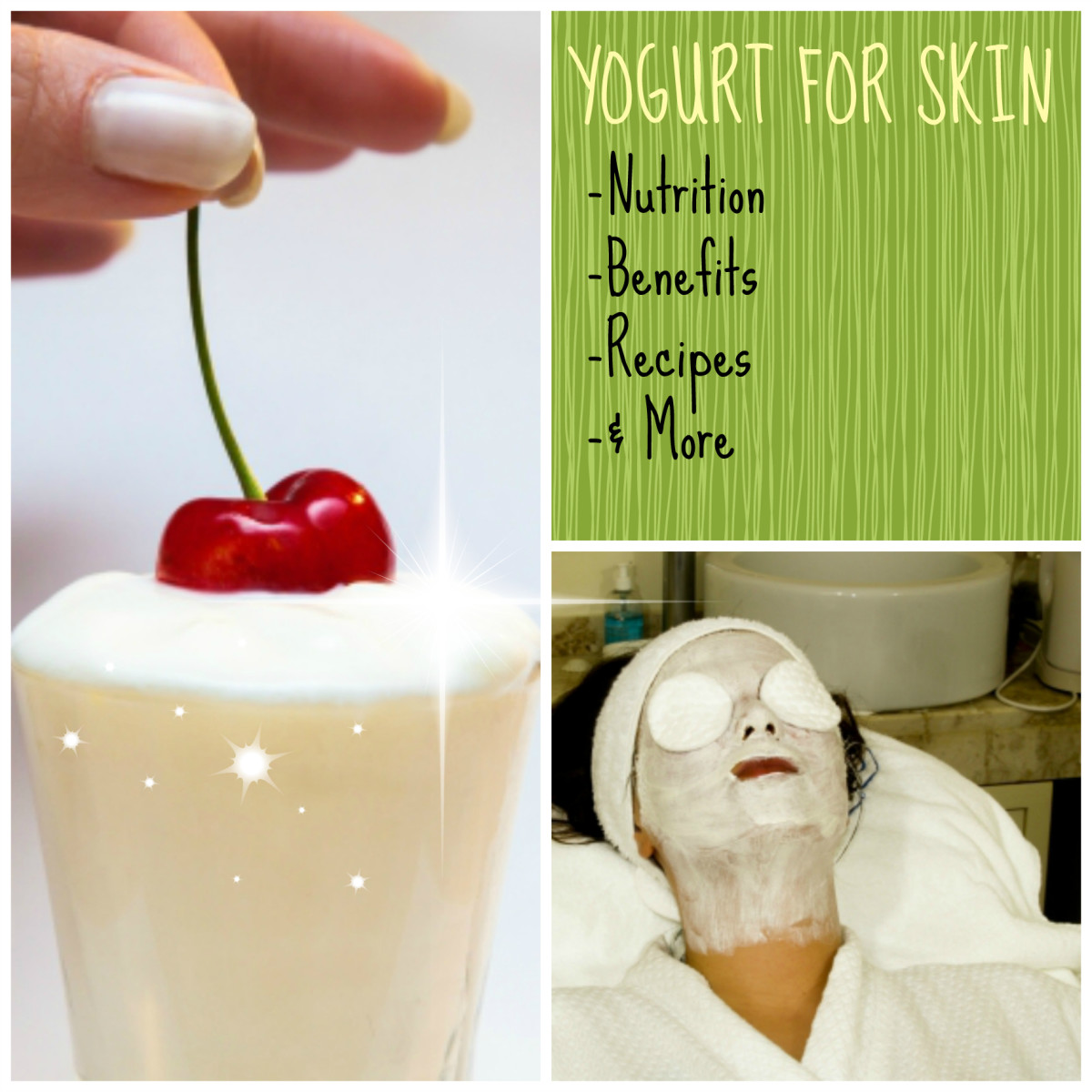 Yogurt can be great for the skin.