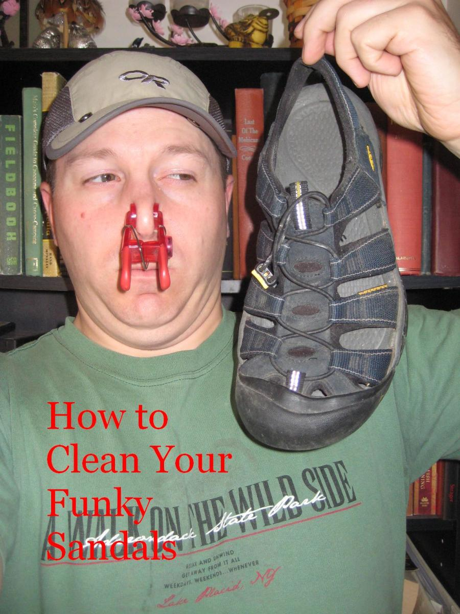 How to clean your stinky sandals quickly and easily.