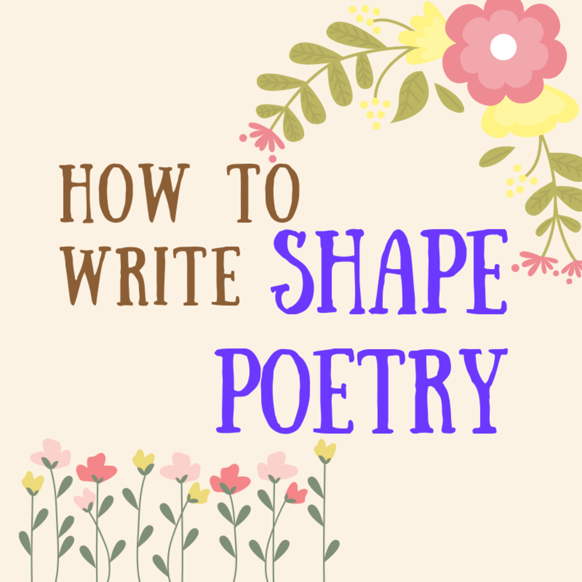 How to Write Shape Poetry