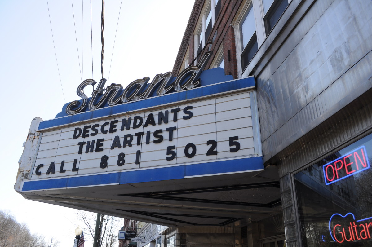 The historic Strand Theater in Seymour, Connecticut