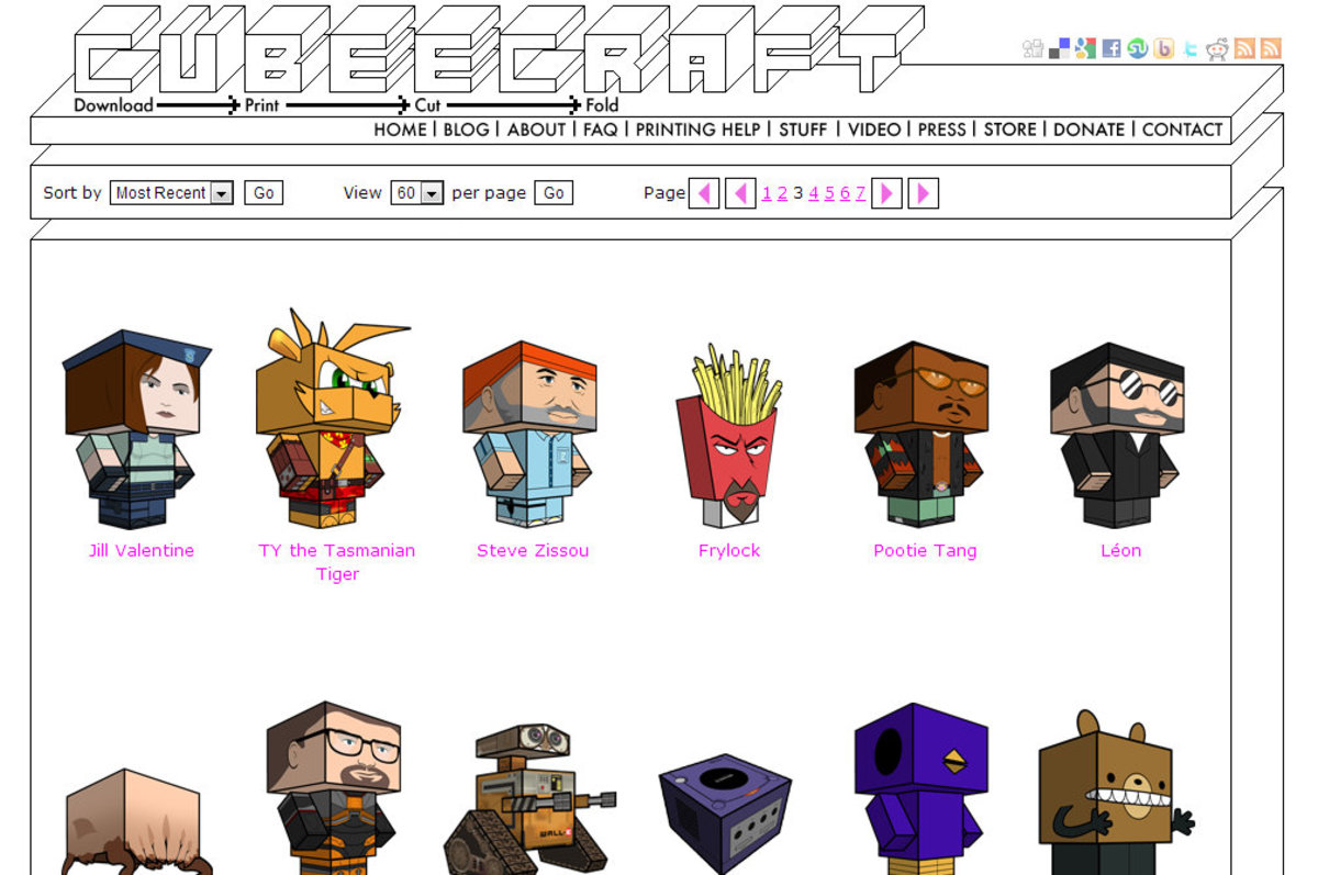 8 Papercraft Websites for Geeks and Hobbyists