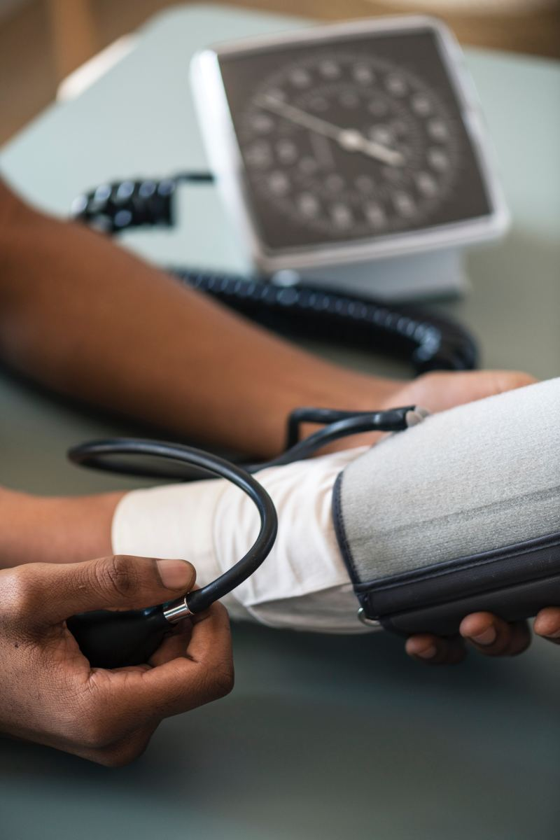 Taking blood pressure is a common task for an ECG technician.