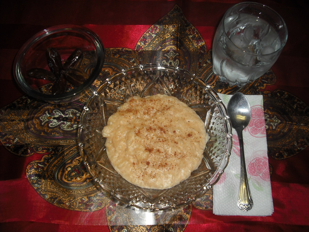 Suhoor is the early morning meal during Ramadan.