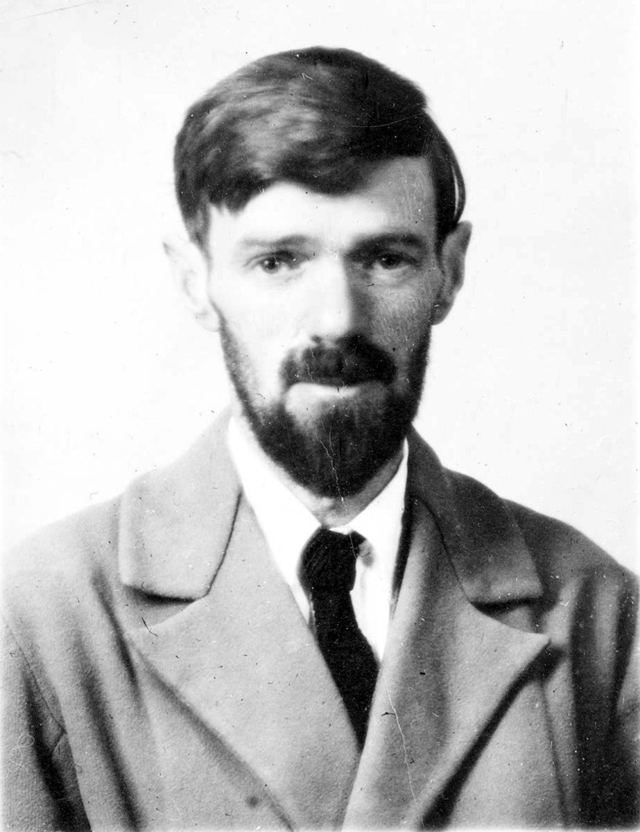 D.H.Lawrence in 1929, a year before his death.