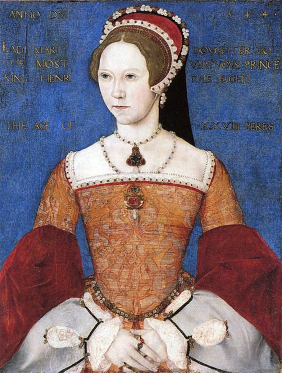 Mary I deposed her cousin as Queen of England