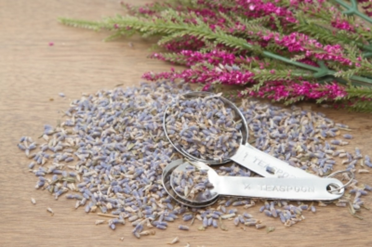 combine dried buds with essential oil