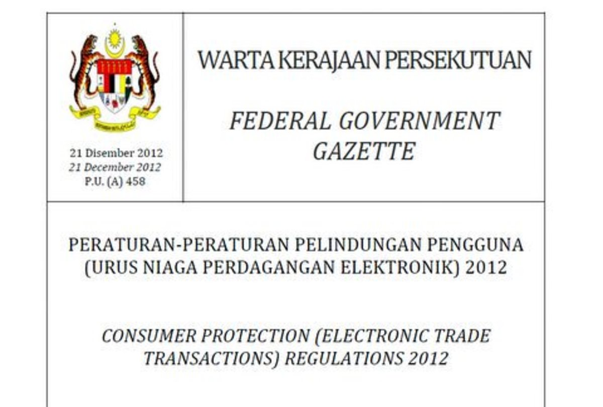 Malaysian Regulation and Consumer Protection of eCommerce and Online Business